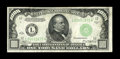 Fr. 2211-L $1000 1934 Federal Reserve Note. Very Fine. Traces of embossing remain while a faint line is noticed to the r...
