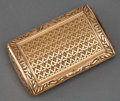 Silver Smalls:Snuff Boxes, A FRENCH GOLD SNUFF BOX IN FITTED LEATHER CASE . Unidentifiedmaker, Paris, France, circa 1809-1815. Marks: (maker's mark p...