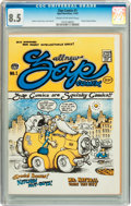 Silver Age (1956-1969):Alternative/Underground, Zap Comix #1 First Printing - Plymell Edition (Apex Novelties,1967) CGC VF+ 8.5 Cream to off-white pages....