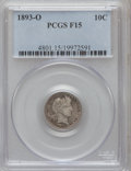 Barber Dimes: , 1893-O 10C Fine 15 PCGS. PCGS Population (7/155). NGC Census:(1/130). Mintage: 1,760,000. Numismedia Wsl. Price for proble...
