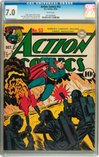 Action Comics #53 (DC, 1942) CGC FN/VF 7.0 White pages