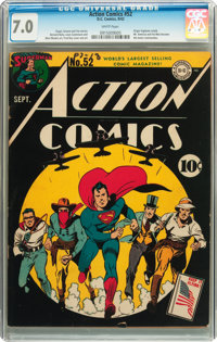 Action Comics #52 (DC, 1942) CGC FN/VF 7.0 White pages