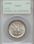 Commemorative Silver: , 1937 50C Texas MS65 PCGS. PCGS Population (627/424). NGC Census:(426/414). Mintage: 6,571. Numismedia Wsl. Price for probl...