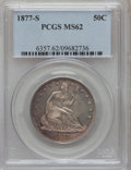 Seated Half Dollars: , 1877-S 50C MS62 PCGS. PCGS Population (57/184). NGC Census:(47/201). Mintage: 5,356,000. Numismedia Wsl. Price for problem...