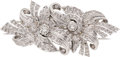 Estate Jewelry:Brooches - Pins, Art Deco Diamond, Platinum Double Clip-Brooch. ...