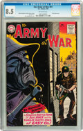 Silver Age (1956-1969):War, Our Army at War #91 (DC, 1960) CGC VF+ 8.5 Off-white pages....