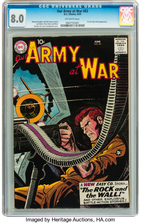 Our Army at War #83 (DC, 1959) CGC VF 8.0 Off-white pages....