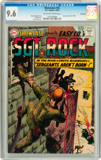 Showcase #45 Sgt. Rock - Savannah pedigree (DC, 1963) CGC NM+ 9.6 Off-white to white pages