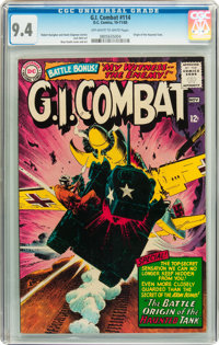 G.I. Combat #114 (DC, 1965) CGC NM 9.4 Off-white to white pages