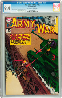 Our Army at War #116 (DC, 1962) CGC NM 9.4 Off-white to white pages