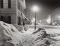 Photographs, MARION POST WOLCOTT (American, 1910-1990). Center of Town After Blizzard, Woodstock, Vt., 1940. Gelatin silver, archival...