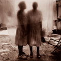 Photographs:20th Century, JACK SPENCER (American, b. 1951). Gladys and Mother BehindClothesline, 1998. Toned silver, 1998. 18-1/8 x 18 inches(46...