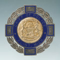 Antiques:Antiquities, Fine Sterling and Hard-fired Blue Enamel Chief of Police Badge forFlint, Michigan....