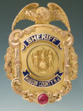 Antiques, Fine Gold Eagle and Shield Badge for the Sheriff of Hudson Co. N.J. by Dieges & Clust....