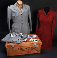Historic Clothing Ensemble of Italian Dictator Benito Mussolini and Mistress Clara Petacci, Captured During Their Attemp...