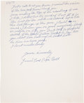"Autographs:Letters, 1971 James ""Cool Papa"" Bell Handwritten Signed Letter...."