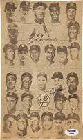 Autographs:Others, 1964 Roger Maris Signed Newspaper Photograph....