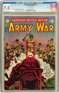 Our Army at War #2 Carson City pedigree (DC, 1952) CGC VF- 7.5 Off-white pages