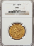 Liberty Eagles: , 1844-O $10 AU53 NGC. NGC Census: (38/152). PCGS Population (22/21).Mintage: 118,700. Numismedia Wsl. Price for problem fre...