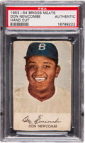Baseball Cards:Singles (1950-1959), 1953-54 Briggs Meats Don Newcombe PSA Authentic....