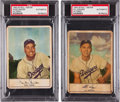 Baseball Cards:Lots, 1953 Stahl-Meyer Franks Brooklyn Dodgers PSA Authentic Pair (2)....