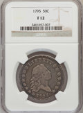 Early Half Dollars: , 1795 50C 2 Leaves Fine 12 NGC. NGC Census: (116/511). PCGSPopulation (174/662). Mintage: 299,680. Numismedia Wsl. Price fo...