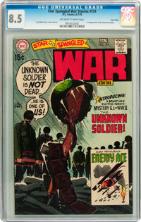 Star Spangled War Stories #151 Twin Cities pedigree (DC, 1970) CGC VF+ 8.5 Off-white to white pages