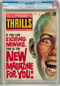 Magazines:Fanzine, Screen Thrills Illustrated #1 (Warren, 1962) CGC VF 8.0 Cream to off-white pages....
