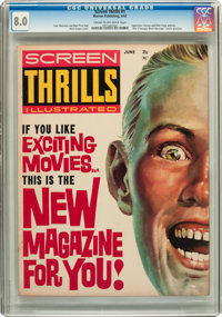 Screen Thrills Illustrated #1 (Warren, 1962) CGC VF 8.0 Cream to off-white pages