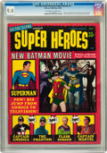 Magazines:Superhero, On the Scene Presents Super Heroes #1 (Warren, 1966) CGC NM 9.4Off-white to white pages....