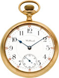 Timepieces:Pocket (post 1900), Waltham Gold & Enamel 23 Jewel Riverside Maximus, circa 1901. ...
