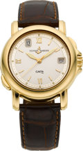 Timepieces:Wristwatch, Ulysse Nardin 18k Gold San Marco GMT Dual Time Zone Wristwatch. ...
