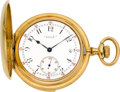 Timepieces:Pocket (pre 1900) , Tiffany & Co. Gold Five Minute Repeater Hunters Case PocketWatch, circa 1893. ...