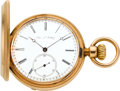 Timepieces:Pocket (pre 1900) , Leon L. Gallet Heavy 18k Gold Key Wind, circa 1870's. ...