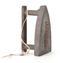 Post-War & Contemporary:Contemporary, MAN RAY (American, 1890-1976). Cadeau, 1974. Iron withbrown-gray patina and brass nails. 6-1/2 x 4 x 4 inches (16.5 x1...