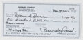 Books:Signed Editions, Dominick Dunne. Endorsed Personal Check, Without Signature. Dated 2002. From Barnaby Conrad, director of the Santa Barbara W...