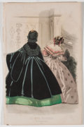 Antiques:Posters & Prints, Lot of 22 Illustrations From Peterson's Magazine Featuring Women's Fashion Circa 1861....