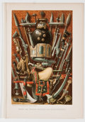 Antiques:Posters & Prints, Lot of 11 Vintage Chromolithographic Plates Featuring EthnographicSubjects....