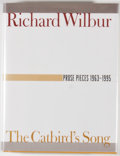 Books:Signed Editions, Richard Wilbur. Group of Two Signed First Edition Books, including: More Opposites. [1991]. [and:] The Catbird's... (Total: 2 Items)