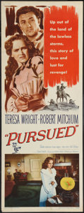 "Movie Posters:Western, Pursued (Warner Brothers, 1947). Insert (14"" X 36""). Western.. ..."