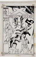 Original Comic Art:Covers, Paul Smith X-Factor #43 X-Factor vs. Celestial CoverOriginal Art (Marvel, 1989)....