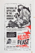 Memorabilia:Poster, Blood Feast Movie Poster (Friedman-Lewis Productions, 1963)....