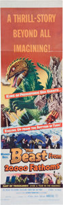 Memorabilia:Poster, The Beast From 20,000 Fathoms Movie Poster (Warner Brothers,1953)....