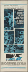 "Movie Posters:War, In Harm's Way (Paramount, 1965). Insert (14"" X 36""). War.. ..."