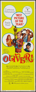 """Movie Posters:Academy Award Winners, Oliver! (Columbia, 1968). Insert (14"""" X 36"""") Academy Awards Style.Musical.. ..."""