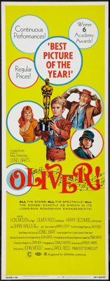 "Oliver! (Columbia, 1968). Insert (14"" X 36"") Academy Awards Style. Musical"