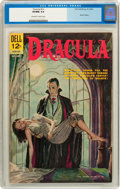 Silver Age (1956-1969):Horror, Movie Classics: Dracula (Dell, 1962) CGC VF/NM 9.0 Off-white towhite pages....