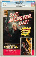 Silver Age (1956-1969):Horror, Movie Classics: Die, Monster, Die #nn (Dell, 1966) CGC VF/NM 9.0Off-white to white pages....