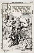 Original Comic Art:Covers, Paul Ryan and Tom Palmer The Avengers #331 Cover OriginalArt (Marvel, 1993)....