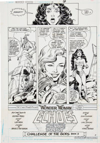 George Perez and Bruce Patterson Wonder Woman #12 Page 4 Original Art (DC, 1988)